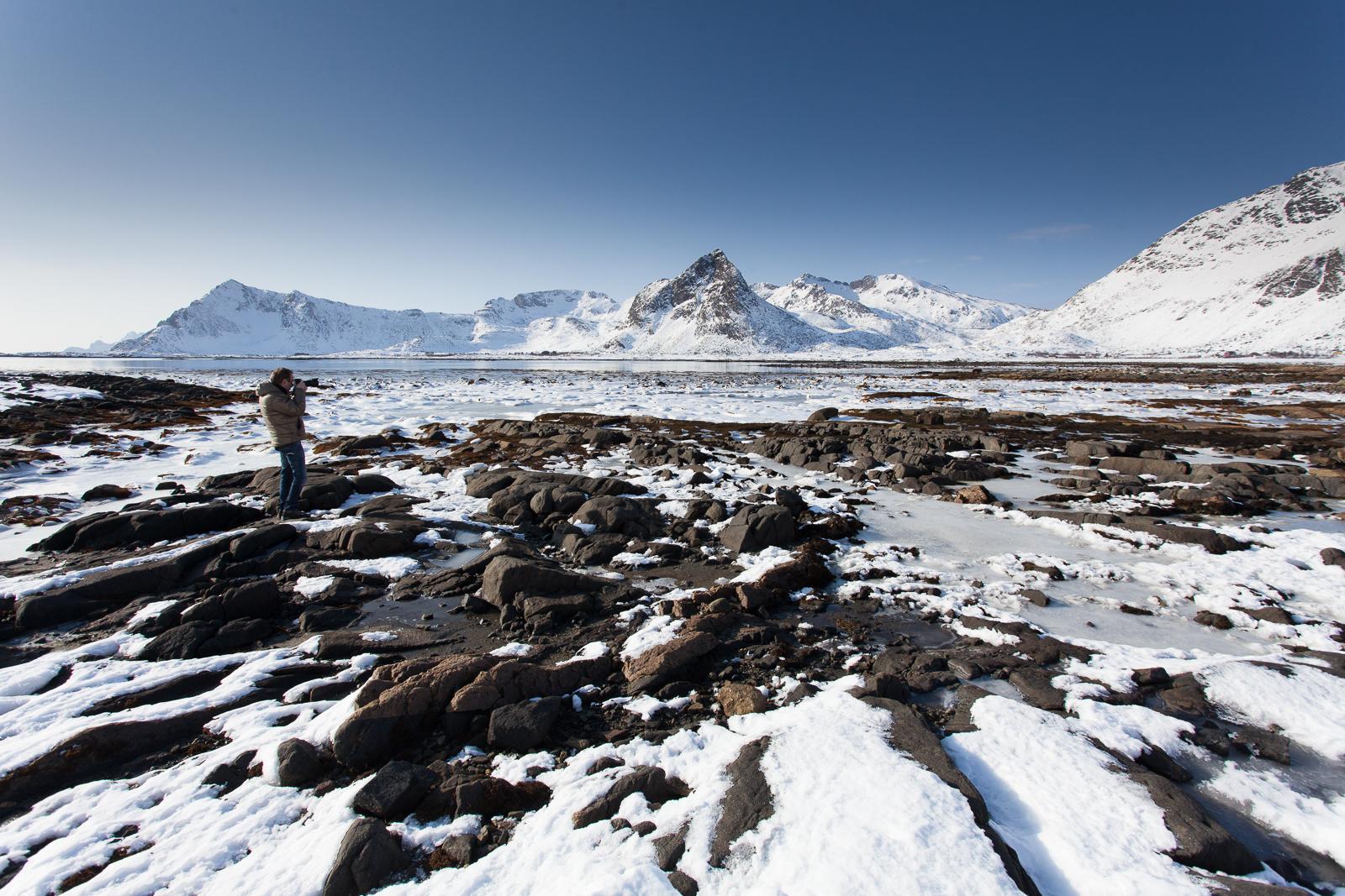 Landschap Lofoten Noorwegen; Landscape Lofoten Islands Norway